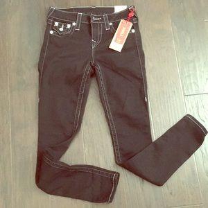 NWT True Religion Super Skinny Ankle Black Jeans👖
